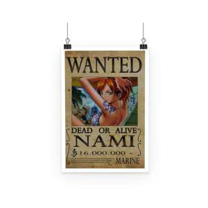 Poster One Piece Nami Wanted