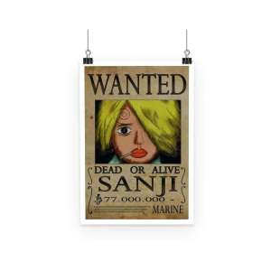 Poster One Piece Sanji Wanted