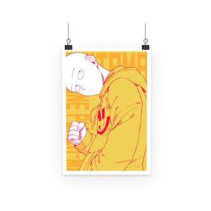 Poster One Punch Man Saitama Street Style