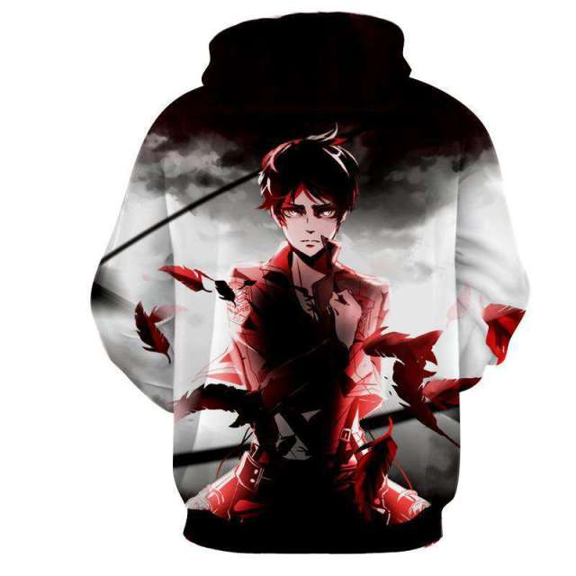 Pull à capuche 3D All Over Attack On Titans Eren Destiny