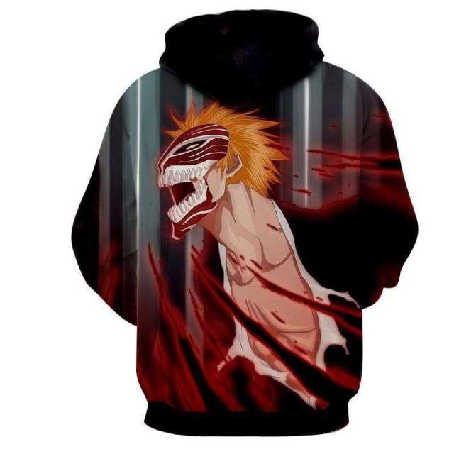 Pull à capuche 3D All Over Bleach Ichigo Vizard