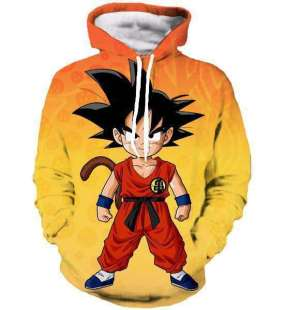 Pull à capuche 3D All Over Dragon Ball Goku Kid