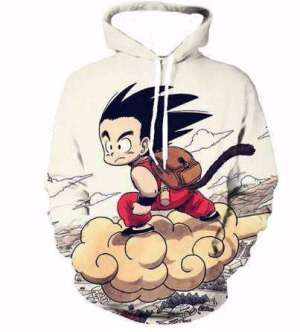 Pull à capuche 3D All Over Dragon Ball Goku Kid Kinto