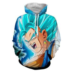 Pull à capuche 3D All Over Dragon Ball Super Vegeto