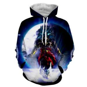 Pull à capuche 3D All Over Dragon Ball Z Broly Moon