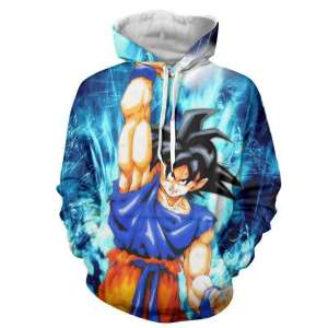 Pull à capuche 3D All Over Dragon Ball Z Goku Genkidama