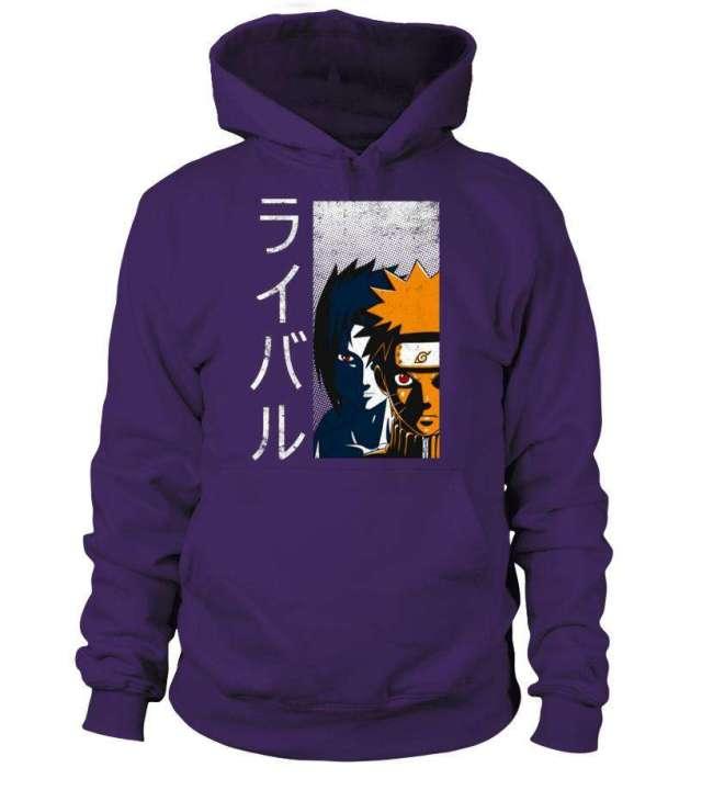 Pull à capuche Naruto X Sasuke