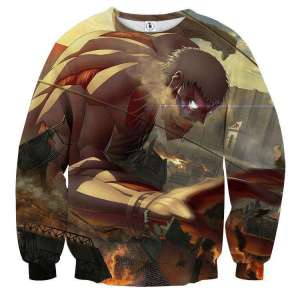Pull classique 3D All Over Attack On Titans Armored Titan