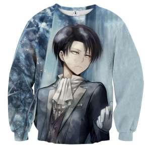 Pull classique 3D All Over Attack On Titans Caporal Levi