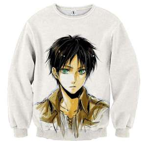Pull classique 3D All Over Attack On Titans Eren Drawing