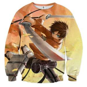 Pull classique 3D All Over Attack On Titans Eren Jaeger Attack