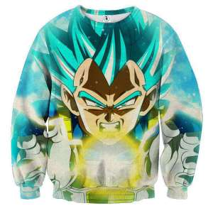 Pull classique 3D All Over Dragon Ball Super Vegeta Power