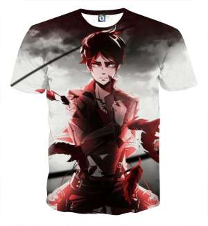 T Shirt 3D All Over Attack On Titan Eren Destiny