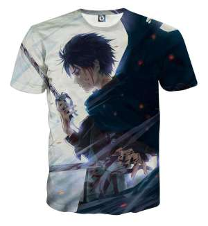 T Shirt 3D All Over Attack On Titan Eren Fight