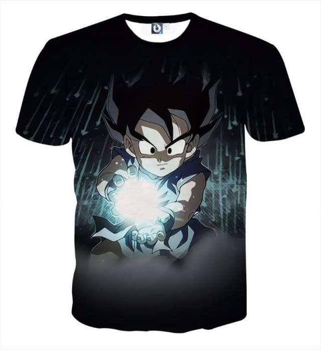 T Shirt 3D All Over Dragon Ball Goku Power