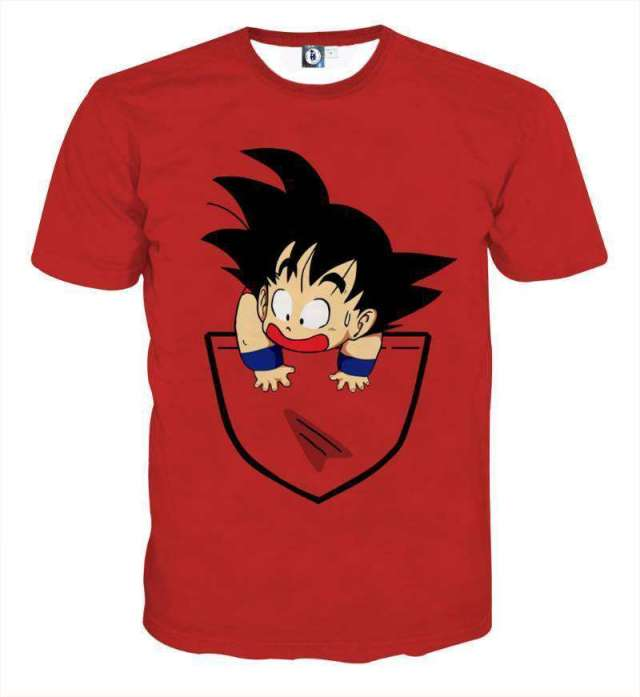T Shirt 3D All Over Dragon Ball Kid Goku