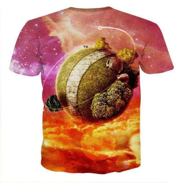 T Shirt 3D All Over Dragon Ball Planète Kaio