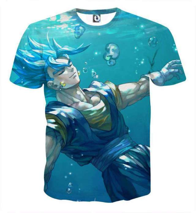 T Shirt 3D All Over Dragon Ball Super Vegeto