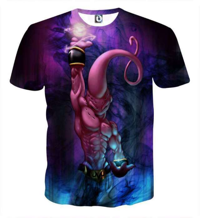 T Shirt 3D All Over Dragon Ball Z Buu Destruction