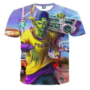 T Shirt 3D All Over Dragon Ball Z Nameksejin Street Style