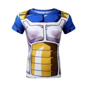T Shirt 3D All Over Dragon Ball Z Vegeta Armor