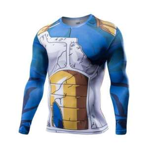 T Shirt 3D All Over Dragon Ball Z Vegeta Damaged Manches Longues