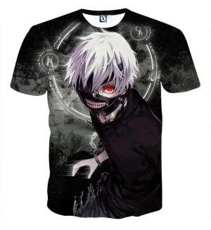 T Shirt 3D All Over Tokyo Ghoul Kaneki Awake