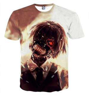 T Shirt 3D All Over Tokyo Ghoul Kaneki Insanity