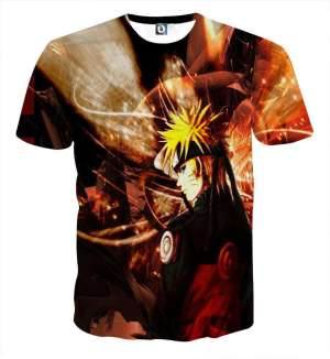 T Shirt All Over 3D Naruto