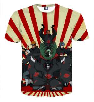 T Shirt All Over 3D Naruto Akatsuki 2