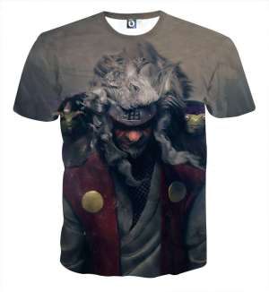 T Shirt All Over 3D Naruto Jiraiya Hermit Mode