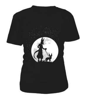 T Shirt Femme Dragon Ball Super Beerus Moon