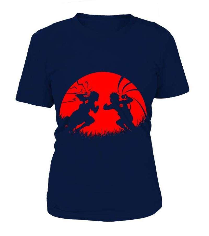 T Shirt Femme Naruto Vs Sasuke