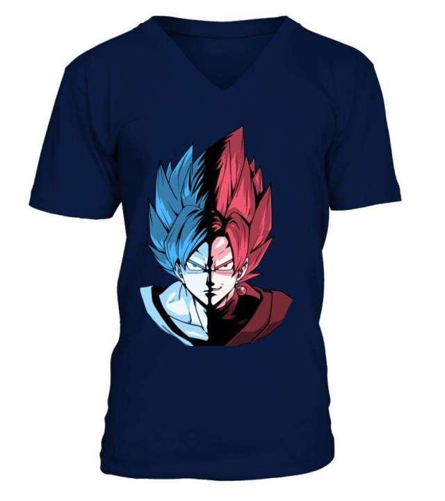T Shirt Dragon Ball Super Goku Vs Black