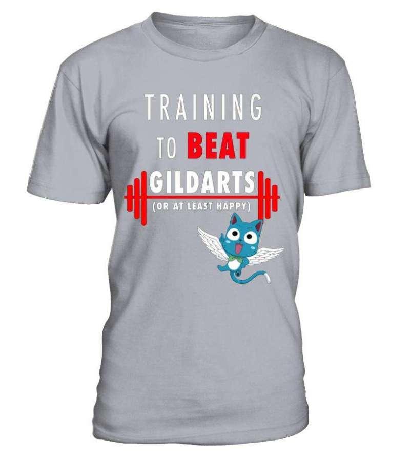 T Shirt Fairy Tail Training To Beat Gildarts