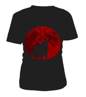 T Shirt Berserk Guts Moon