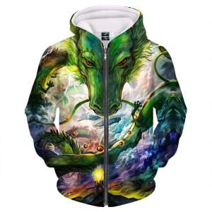 Veste à capuche 3D All Over Dragon Ball Z Shenron