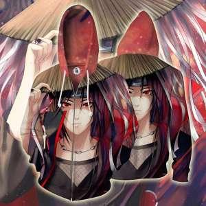 Veste à capuche 3D All Over Naruto Itachi Akatsuki