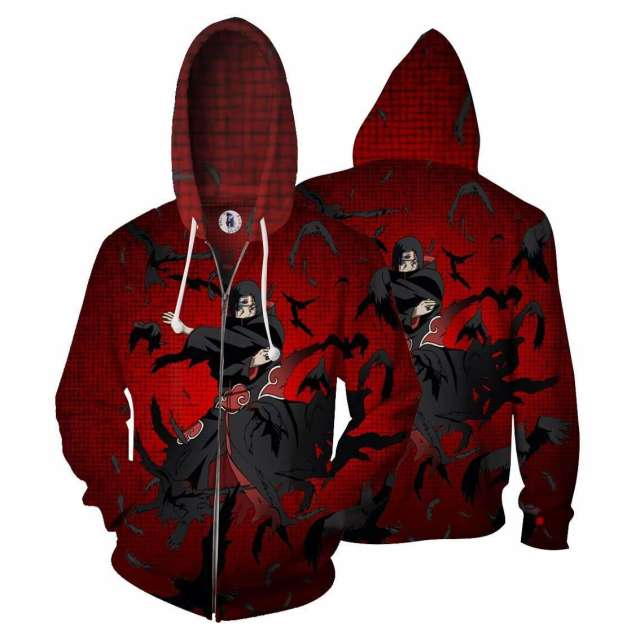 Veste à capuche 3D All Over Naruto Itachi Genjutsu