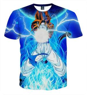 T Shirt 3D All Over Dragon Ball GT Goku SSJ 4 Kamehameha