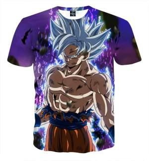 T Shirt 3D All Over Dragon Ball Super Goku Ultra Instinct