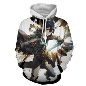 Pull à capuche 3D All Over Sword Art Online Kirito Power