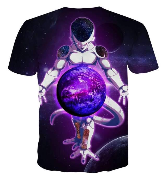 T Shirt 3D All Over Dragon Ball Z Freeza Destruction