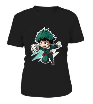 T Shirt Femme My Hero Academia Deku Chibi