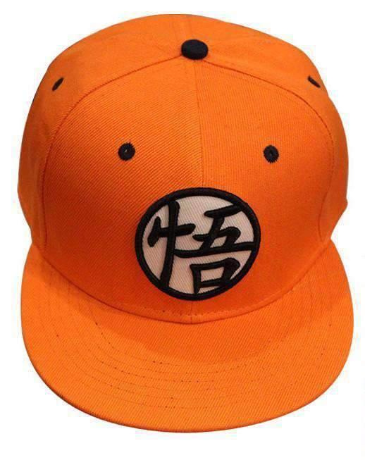 Casquette américaine snapback Dragon Ball Z Symbole Goku Orange