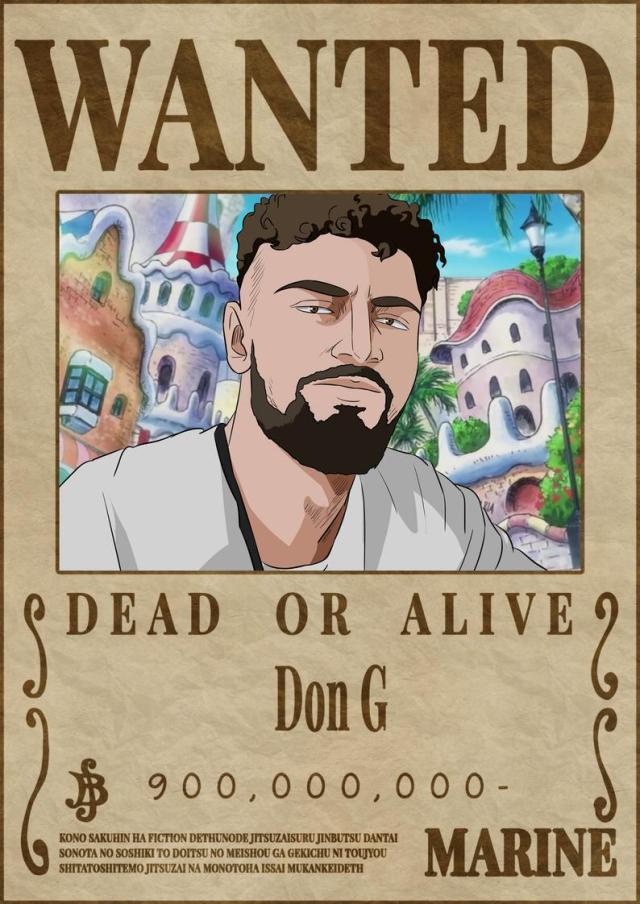 Affiche Avis De Recherche One Piece Personnalisée