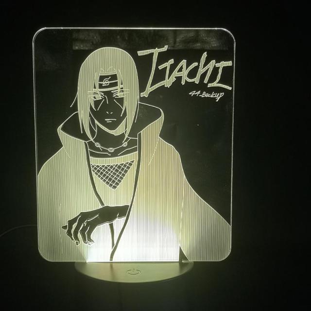 Lampe Led 3D Naruto Itachi