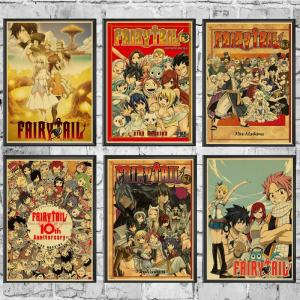 Poster Affiche Fairy Tail Vintage