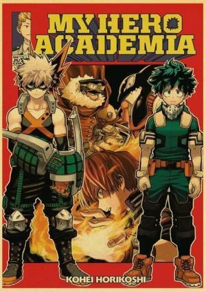 Poster My Hero Academia Izuku X Bakugo Examen