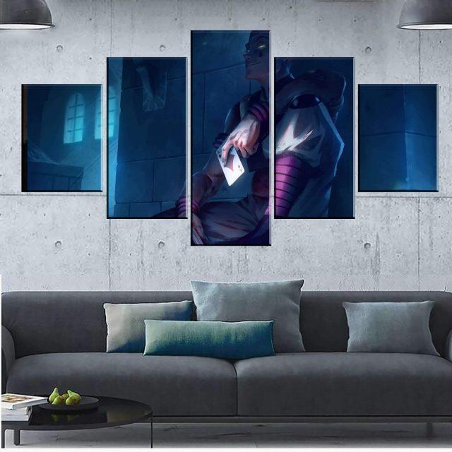 Décoration murale en 5 pièces Hunter X Hunter Hisoka HD